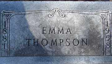 THOMPSON, EMMA - Minnehaha County, South Dakota | EMMA THOMPSON - South Dakota Gravestone Photos