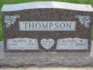 THOMPSON, FLOYD R. - Minnehaha County, South Dakota   FLOYD R. THOMPSON - South Dakota Gravestone Photos