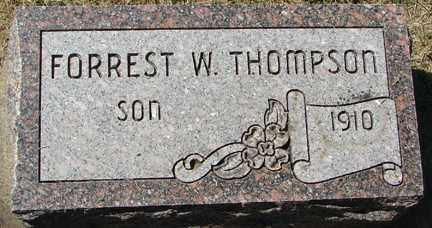 THOMPSON, FORREST W. - Minnehaha County, South Dakota | FORREST W. THOMPSON - South Dakota Gravestone Photos