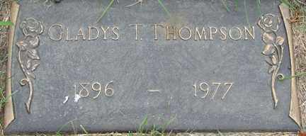 THOMPSON, GLADYS T. - Minnehaha County, South Dakota | GLADYS T. THOMPSON - South Dakota Gravestone Photos