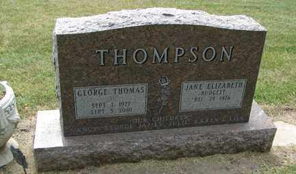 THOMPSON, GEORGE THOMAS - Minnehaha County, South Dakota | GEORGE THOMAS THOMPSON - South Dakota Gravestone Photos