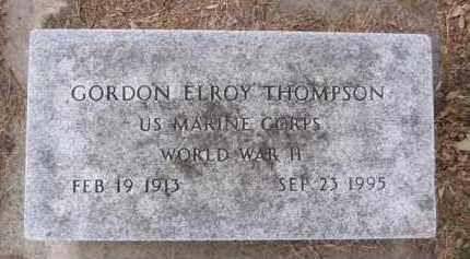 THOMPSON, GORDON ELROY - Minnehaha County, South Dakota | GORDON ELROY THOMPSON - South Dakota Gravestone Photos