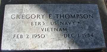 THOMPSON, GREGORY E. - Minnehaha County, South Dakota | GREGORY E. THOMPSON - South Dakota Gravestone Photos