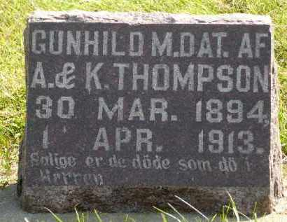 THOMPSON, GUNHILD M. - Minnehaha County, South Dakota | GUNHILD M. THOMPSON - South Dakota Gravestone Photos