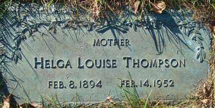 THOMPSON, HELGA LOUISE - Minnehaha County, South Dakota   HELGA LOUISE THOMPSON - South Dakota Gravestone Photos
