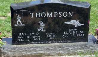 THOMPSON, HARLEY D. - Minnehaha County, South Dakota | HARLEY D. THOMPSON - South Dakota Gravestone Photos