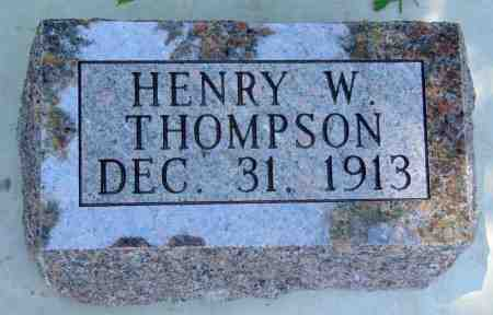 THOMPSON, HENRY W. - Minnehaha County, South Dakota | HENRY W. THOMPSON - South Dakota Gravestone Photos