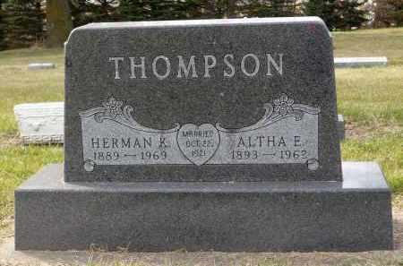 THOMPSON, ALTHA E. - Minnehaha County, South Dakota | ALTHA E. THOMPSON - South Dakota Gravestone Photos