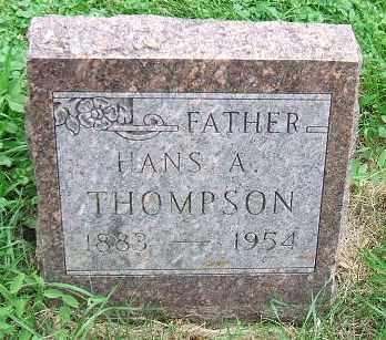 THOMPSON, HANS A. - Minnehaha County, South Dakota | HANS A. THOMPSON - South Dakota Gravestone Photos