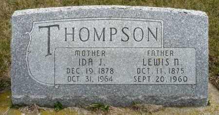THOMPSON, LEWIS N. - Minnehaha County, South Dakota | LEWIS N. THOMPSON - South Dakota Gravestone Photos