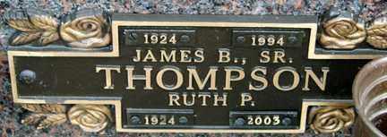 THOMPSON, JAMES B. SR. - Minnehaha County, South Dakota | JAMES B. SR. THOMPSON - South Dakota Gravestone Photos