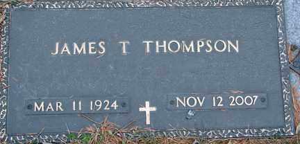 THOMPSON, JAMES T. - Minnehaha County, South Dakota   JAMES T. THOMPSON - South Dakota Gravestone Photos