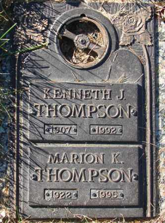 THOMPSON, KENNETH J. - Minnehaha County, South Dakota | KENNETH J. THOMPSON - South Dakota Gravestone Photos