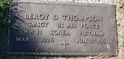 THOMPSON, LEROY D. - Minnehaha County, South Dakota | LEROY D. THOMPSON - South Dakota Gravestone Photos