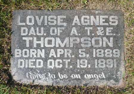THOMPSON, LOVISE AGNES - Minnehaha County, South Dakota   LOVISE AGNES THOMPSON - South Dakota Gravestone Photos