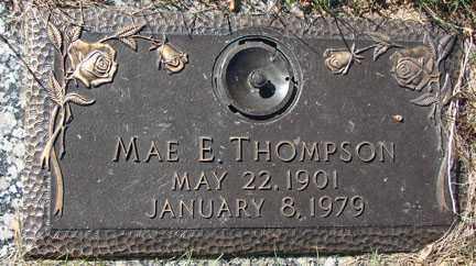 THOMPSON, MAE E. - Minnehaha County, South Dakota   MAE E. THOMPSON - South Dakota Gravestone Photos