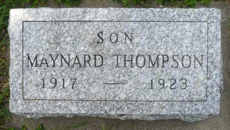 THOMPSON, MAYNARD - Minnehaha County, South Dakota | MAYNARD THOMPSON - South Dakota Gravestone Photos