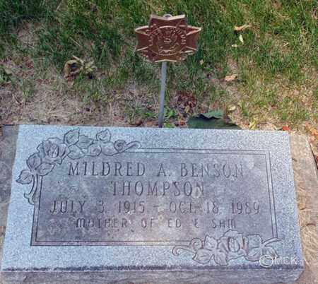 THOMPSON, MILDRED A. - Minnehaha County, South Dakota | MILDRED A. THOMPSON - South Dakota Gravestone Photos