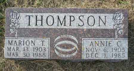THOMPSON, ANNIE C. - Minnehaha County, South Dakota | ANNIE C. THOMPSON - South Dakota Gravestone Photos