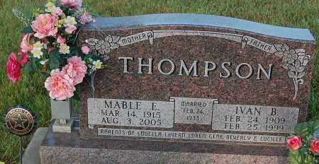 THOMPSON, MABLE E. - Minnehaha County, South Dakota | MABLE E. THOMPSON - South Dakota Gravestone Photos
