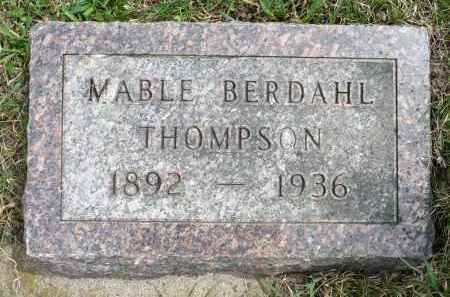 THOMPSON, MABLE - Minnehaha County, South Dakota   MABLE THOMPSON - South Dakota Gravestone Photos