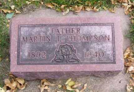 THOMPSON, MARTIN T. - Minnehaha County, South Dakota   MARTIN T. THOMPSON - South Dakota Gravestone Photos