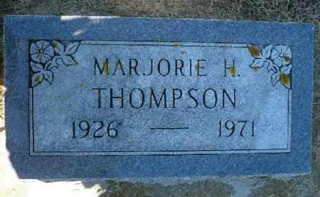 THOMPSON, MARJORIE H. - Minnehaha County, South Dakota | MARJORIE H. THOMPSON - South Dakota Gravestone Photos