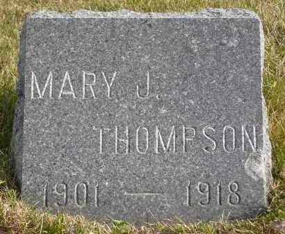 THOMPSON, MARY J. - Minnehaha County, South Dakota | MARY J. THOMPSON - South Dakota Gravestone Photos