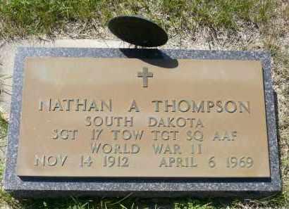 THOMPSON, NATHAN A. - Minnehaha County, South Dakota | NATHAN A. THOMPSON - South Dakota Gravestone Photos