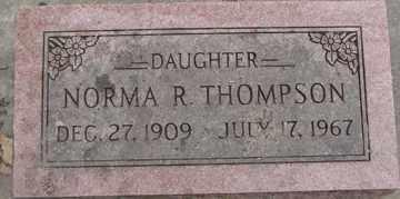 THOMPSON, NORMA R. - Minnehaha County, South Dakota   NORMA R. THOMPSON - South Dakota Gravestone Photos