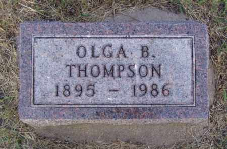 THOMPSON, OLGA B. - Minnehaha County, South Dakota | OLGA B. THOMPSON - South Dakota Gravestone Photos