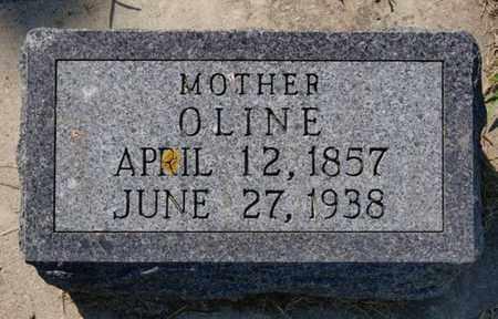 THOMPSON, OLINE - Minnehaha County, South Dakota | OLINE THOMPSON - South Dakota Gravestone Photos