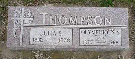 THOMPSON, JULIA S. - Minnehaha County, South Dakota | JULIA S. THOMPSON - South Dakota Gravestone Photos
