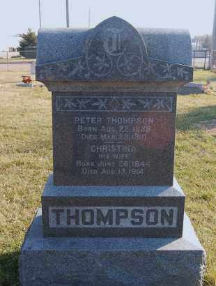 THOMPSON, PETER - Minnehaha County, South Dakota | PETER THOMPSON - South Dakota Gravestone Photos