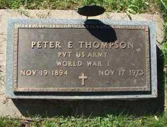 THOMPSON, PETER E. - Minnehaha County, South Dakota | PETER E. THOMPSON - South Dakota Gravestone Photos