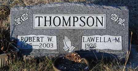 THOMPSON, ROBERT W. - Minnehaha County, South Dakota   ROBERT W. THOMPSON - South Dakota Gravestone Photos