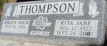THOMPSON, RITA JANE - Minnehaha County, South Dakota | RITA JANE THOMPSON - South Dakota Gravestone Photos