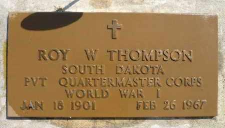 THOMPSON, ROY W. (WWI) - Minnehaha County, South Dakota   ROY W. (WWI) THOMPSON - South Dakota Gravestone Photos