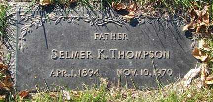 THOMPSON, SELMER K. - Minnehaha County, South Dakota   SELMER K. THOMPSON - South Dakota Gravestone Photos
