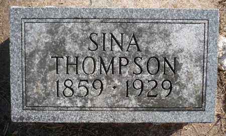THOMPSON, SINA - Minnehaha County, South Dakota   SINA THOMPSON - South Dakota Gravestone Photos