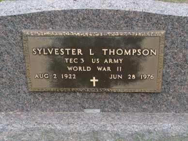 THOMPSON, SYLVESTER L. - Minnehaha County, South Dakota   SYLVESTER L. THOMPSON - South Dakota Gravestone Photos