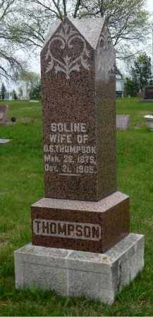 THOMPSON, SOLINE OLSDATTER - Minnehaha County, South Dakota | SOLINE OLSDATTER THOMPSON - South Dakota Gravestone Photos