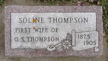 THOMPSON, SOLINE OLSDATTER - Minnehaha County, South Dakota | SOLINE OLSDATTER THOMPSON - South Dakota Gravestone Photos