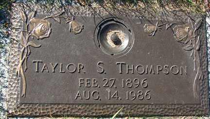 THOMPSON, TAYLOR S. - Minnehaha County, South Dakota | TAYLOR S. THOMPSON - South Dakota Gravestone Photos