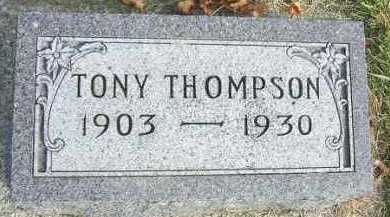 THOMPSON, TONY - Minnehaha County, South Dakota | TONY THOMPSON - South Dakota Gravestone Photos