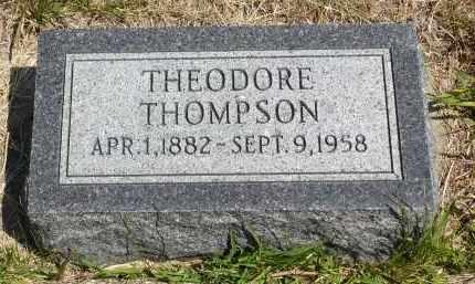 THOMPSON, THEODORE - Minnehaha County, South Dakota | THEODORE THOMPSON - South Dakota Gravestone Photos