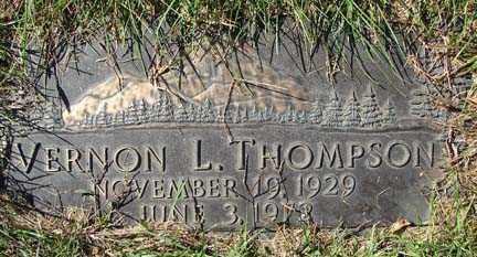 THOMPSON, VERNON L. - Minnehaha County, South Dakota | VERNON L. THOMPSON - South Dakota Gravestone Photos