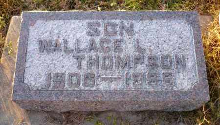 THOMPSON, WALLACE L. - Minnehaha County, South Dakota | WALLACE L. THOMPSON - South Dakota Gravestone Photos