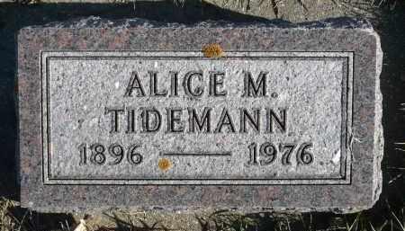 TIDEMANN, ALICE M. - Minnehaha County, South Dakota | ALICE M. TIDEMANN - South Dakota Gravestone Photos