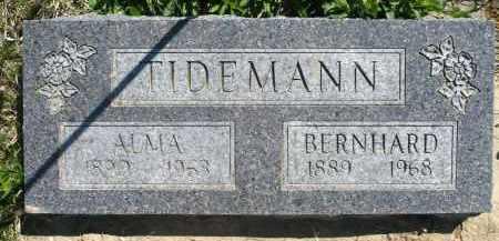 TIDEMANN, BERNHARD - Minnehaha County, South Dakota | BERNHARD TIDEMANN - South Dakota Gravestone Photos